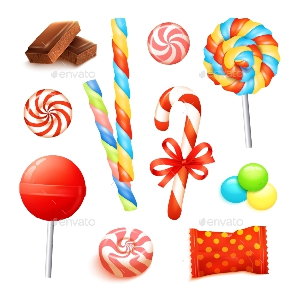 Candy Realistic Set - Food Objects