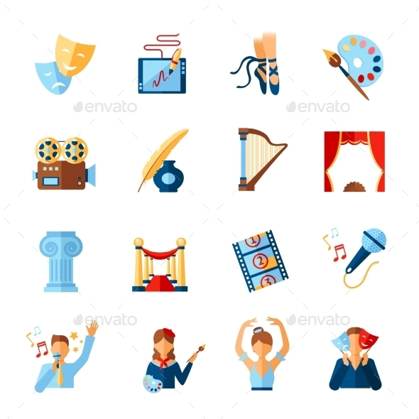 Art And Culture Icons Set - Miscellaneous Icons