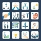 Mentoring Flat Icons Set - GraphicRiver Item for Sale