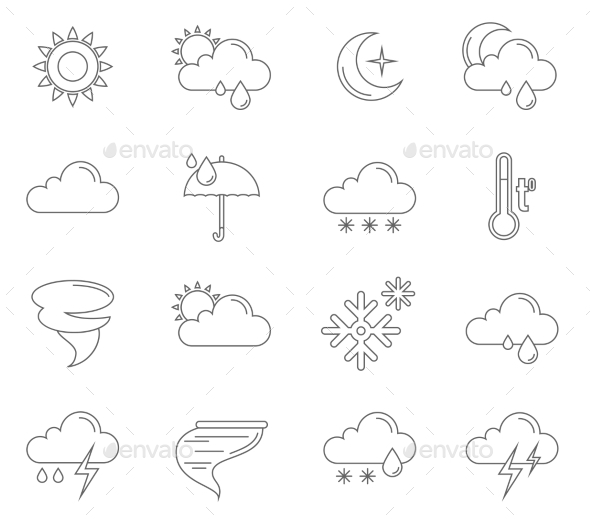 Weather Icons Outline - Software Icons