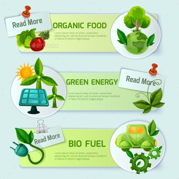 Ecology Banner Set - Industries Business