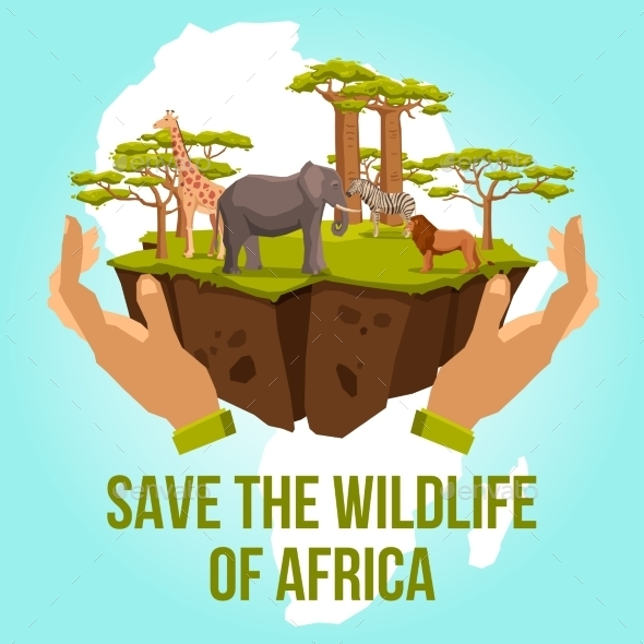 Save the Wildlife of Africa Concept - Landscapes Nature