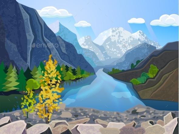 Landscape Summer Mountain Range - Landscapes Nature