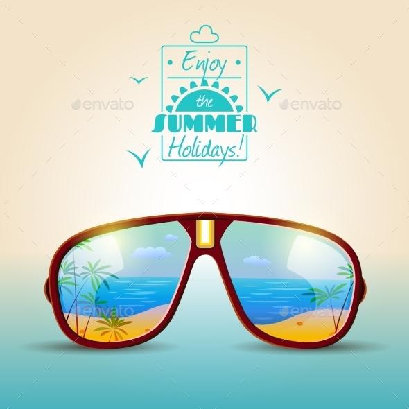 Sunglasses Summer Poster - Nature Conceptual