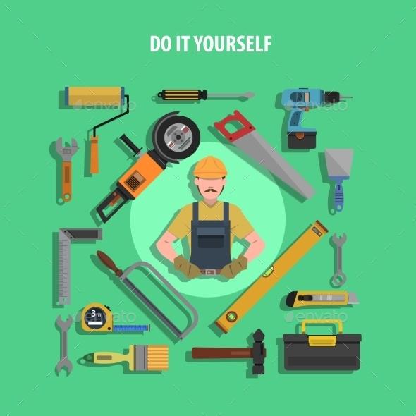 Tools Concept Flat Illustration - Miscellaneous Vectors