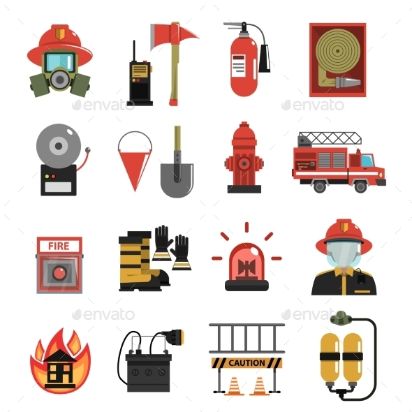 Fire Icon Flat - Miscellaneous Icons