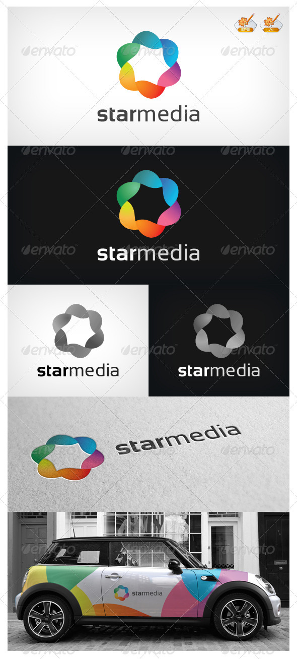 Star Media Logo  - Symbols Logo Templates