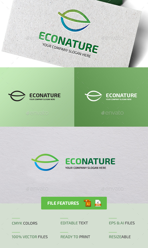 Eco Nature Logo - Objects Logo Templates