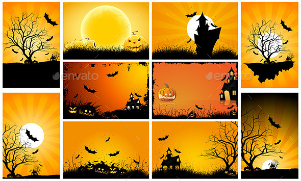 Halloween Backgrounds Party Set - Halloween Seasons/Holidays