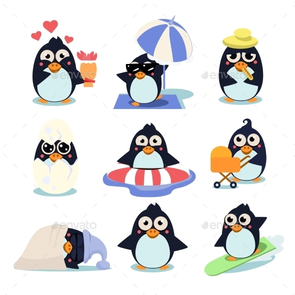 Penguin Set - Animals Characters