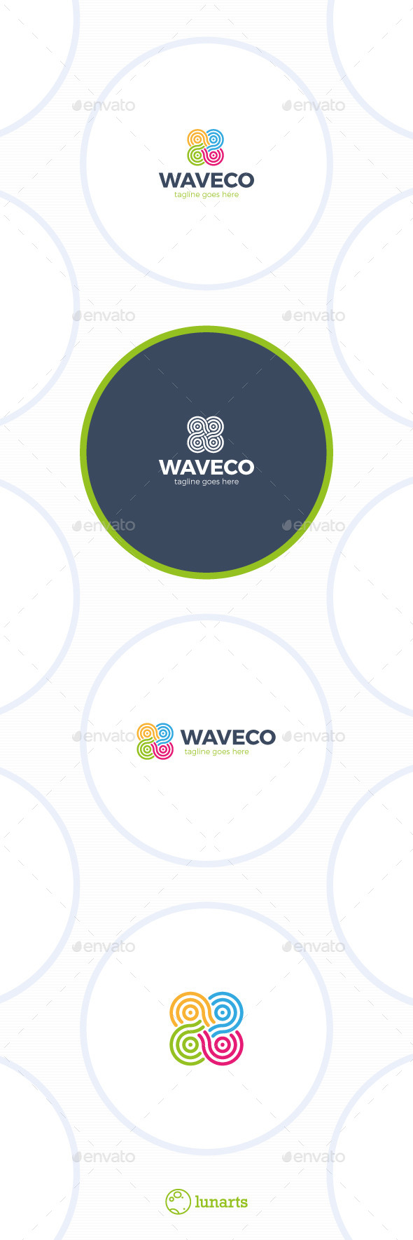 Color Infinity Wave Logo - Abstract Logo Templates