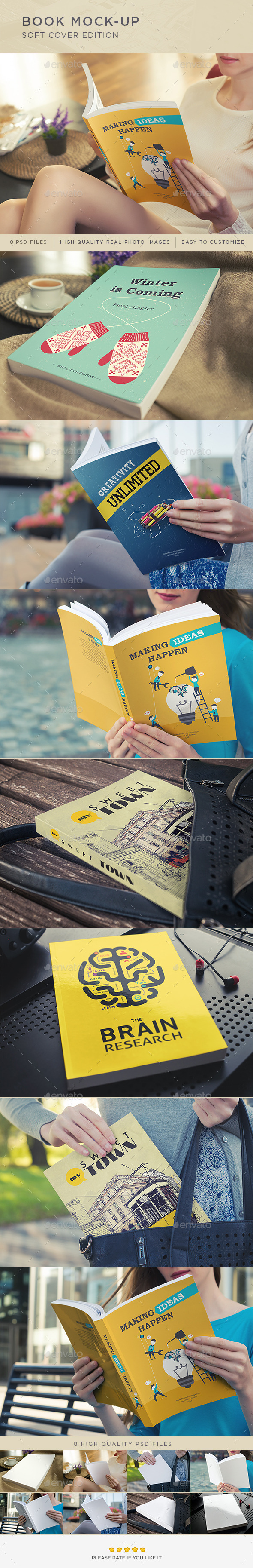 Book Mock-Up / Soft Cover Edition - Books Print