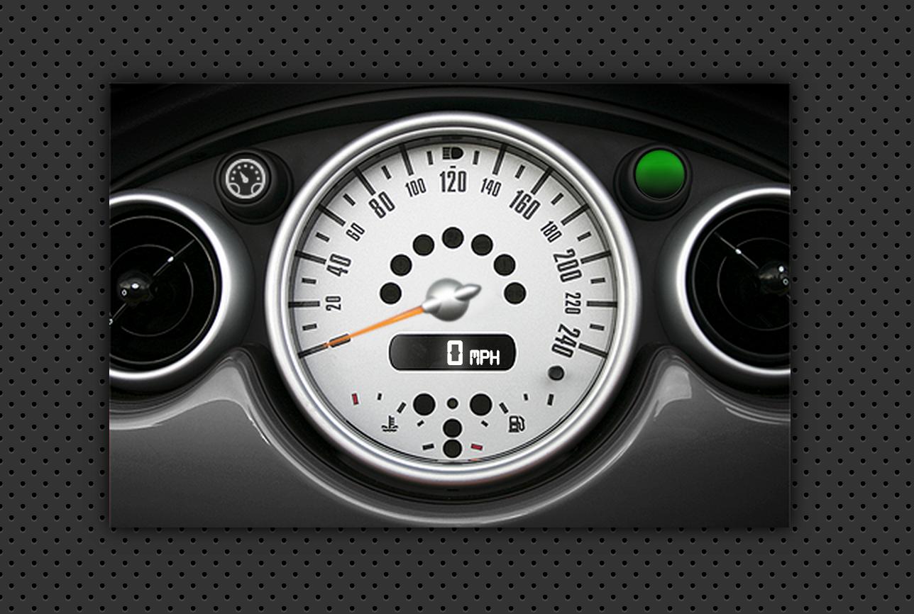 Speedometer GPS Dashboard - Analog/Digital