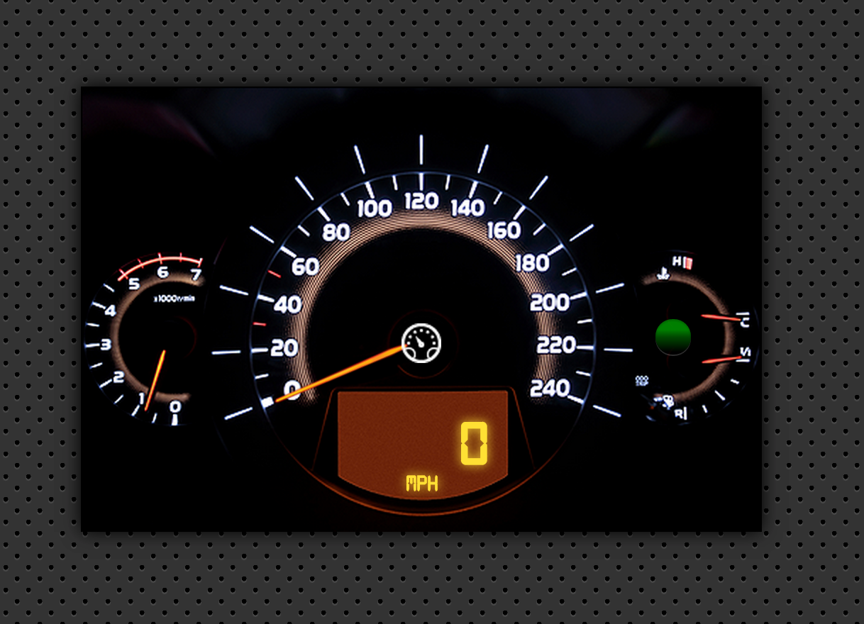 Speedometer GPS Dashboard - Analog/Digital
