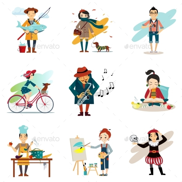 Active Lifestyle - People Characters