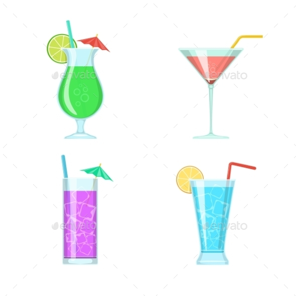 Cocktail Glasses - Food Objects