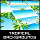 Set of Tropical Backgrounds with Seaside - GraphicRiver Item for Sale