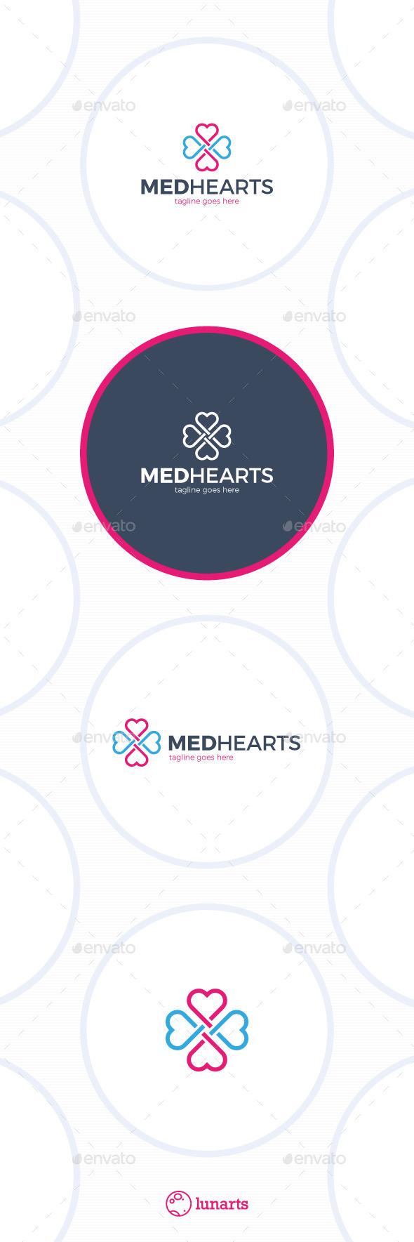 Medical Cross Heart Logo - Symbols Logo Templates