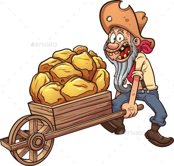 Cartoon Miner - People Characters