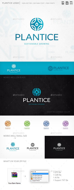 Plantice Floral Round Emblem Logo Template - Symbols Logo Templates