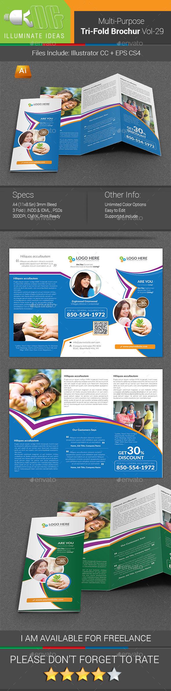 Multipurpose Business Tri-Fold Brochure Vol-29 - Corporate Brochures