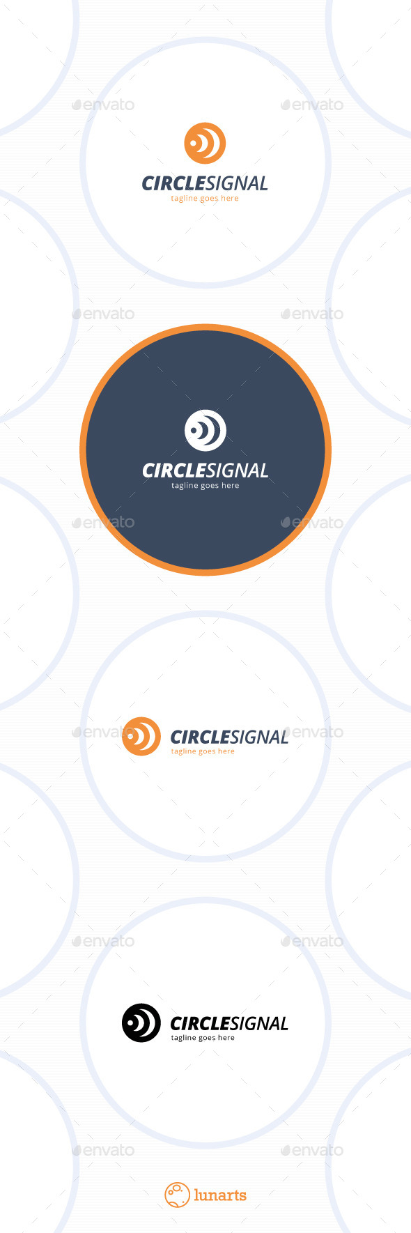 Three Circle Signal Logo - Symbols Logo Templates