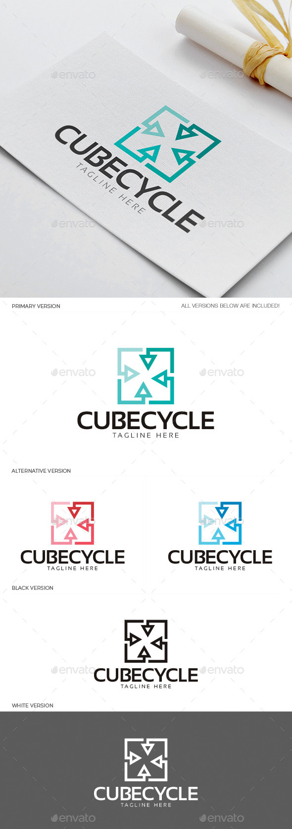 Cube Cycle Logo - Objects Logo Templates