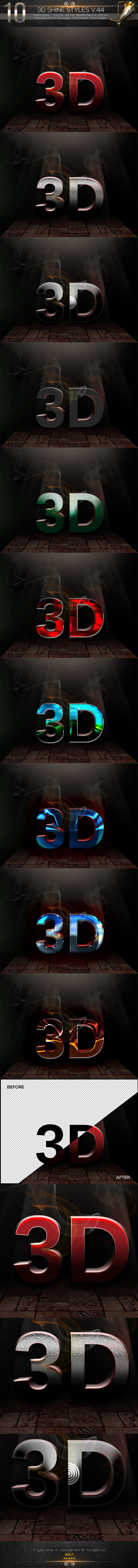 10 3D Text Styles V.44 - Text Effects Styles