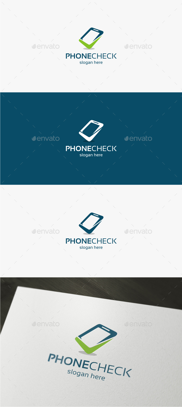 Phone Check - Logo Template - Objects Logo Templates