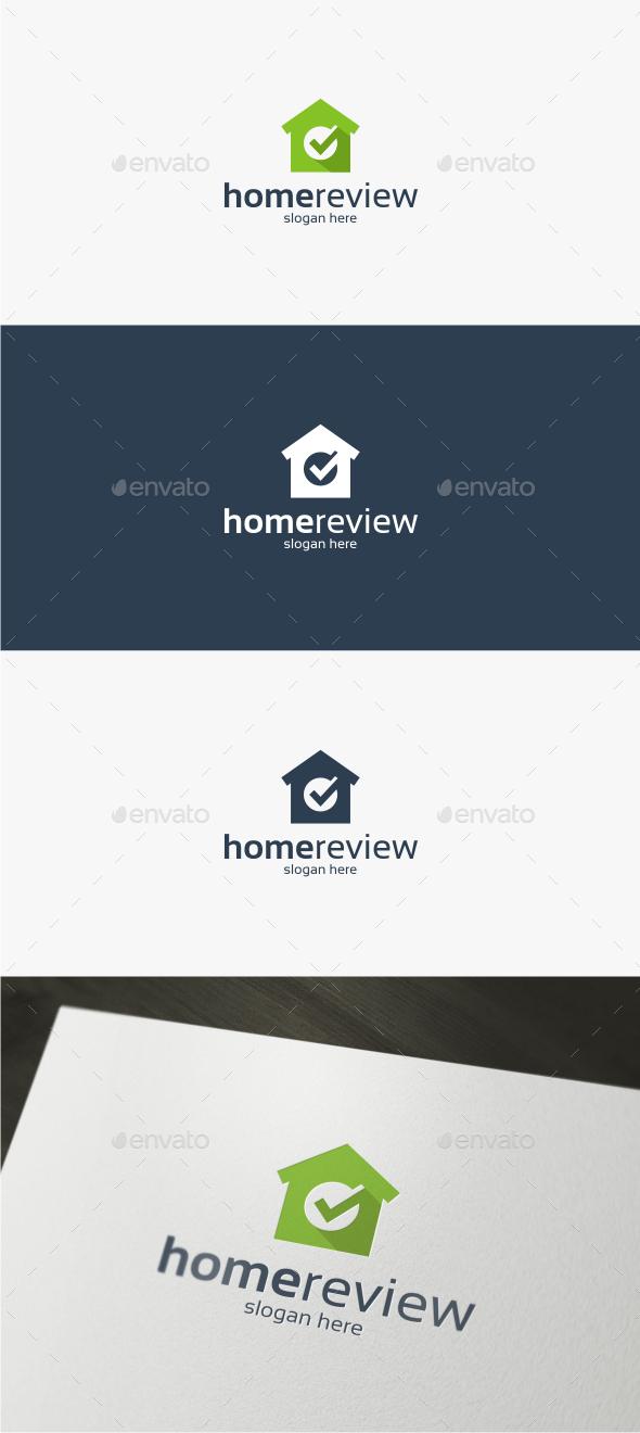 Home Review - Logo Template - Buildings Logo Templates