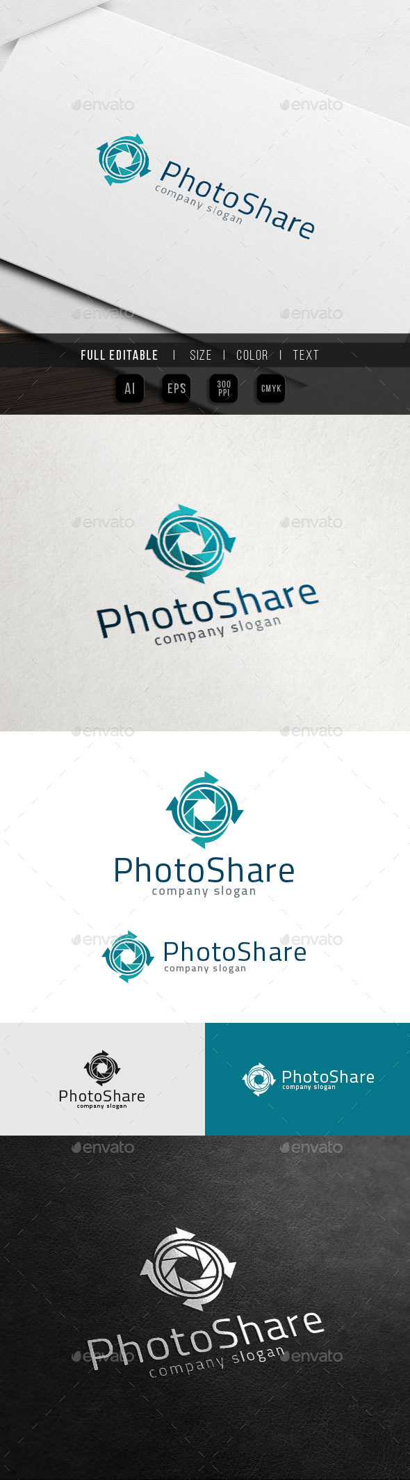 Photography Sharing - Camera Reload Logo - Objects Logo Templates