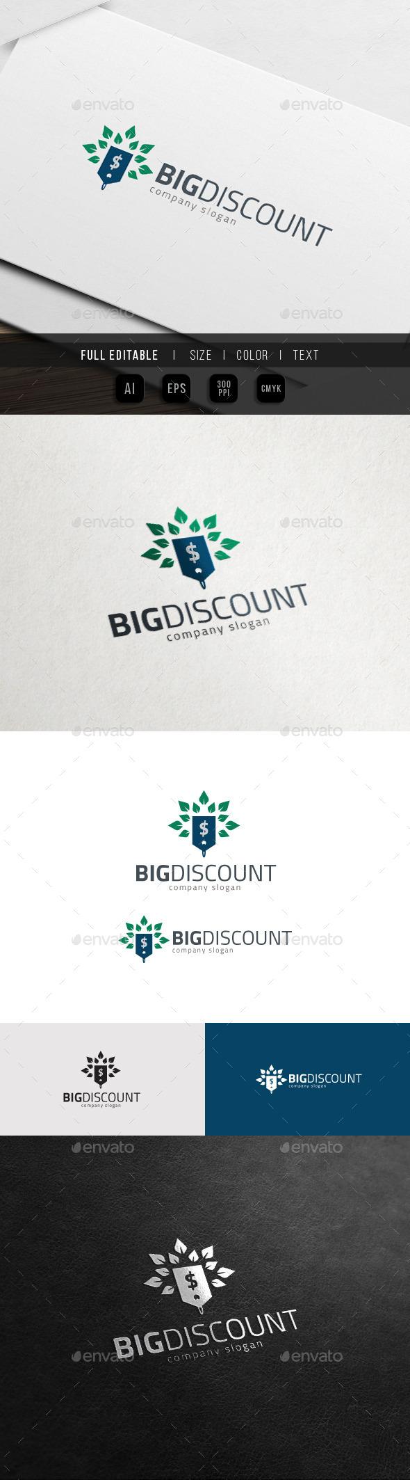 Big Discount - Big Sales Logo - Objects Logo Templates