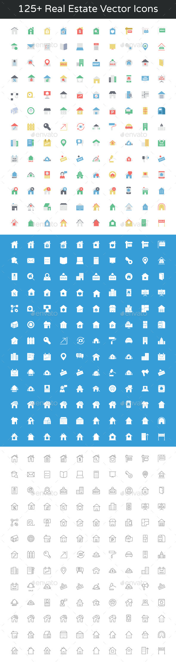 125+ Real Estate Vector Icons - Icons