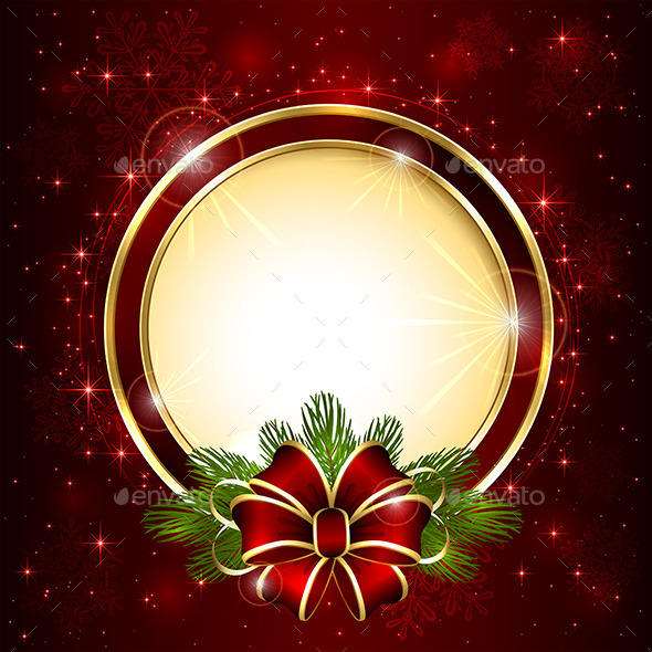Christmas Decoration on Red Background - Christmas Seasons/Holidays