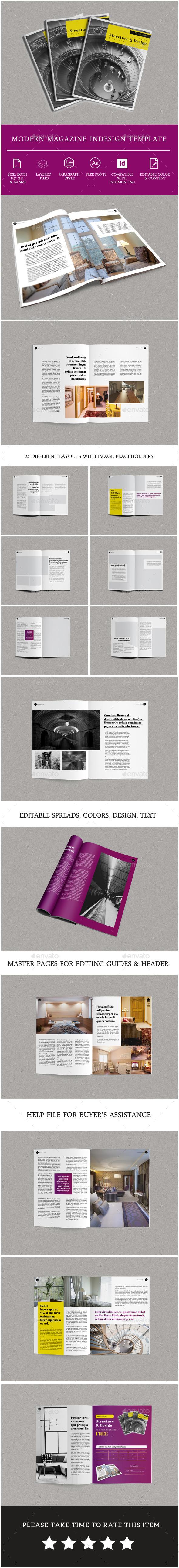 Minimal Modern Magazine Template - Magazines Print Templates