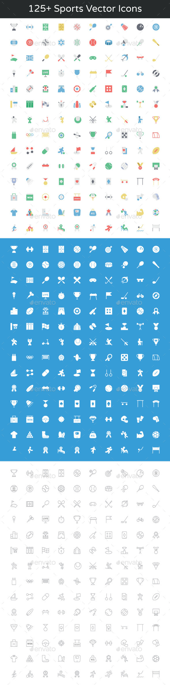 125+ Sports Vector Icons - Icons