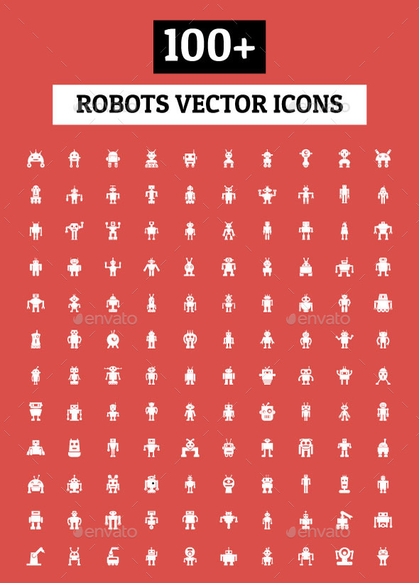 100+ Robots Vector Icons - Man-made objects Objects