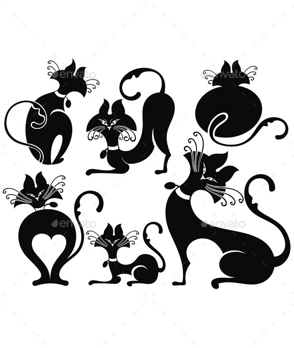 Black Cats - Animals Characters