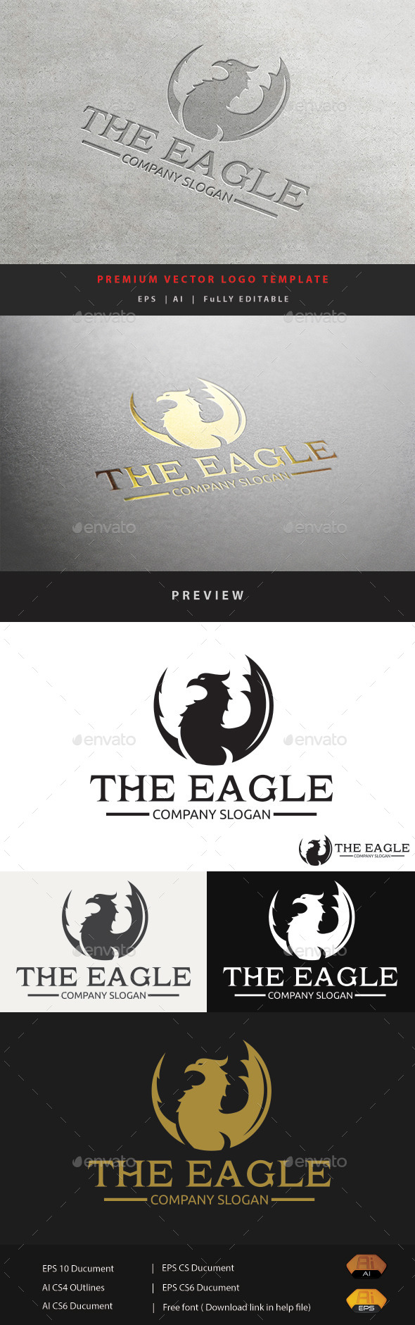 The Eagle - Animals Logo Templates