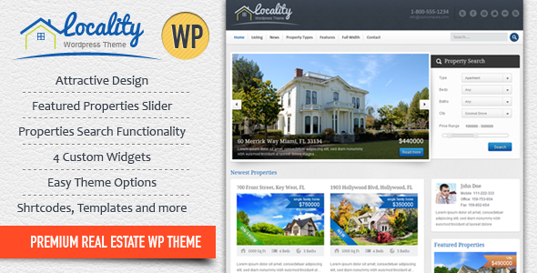 Locality – Real Estate WordPress Theme