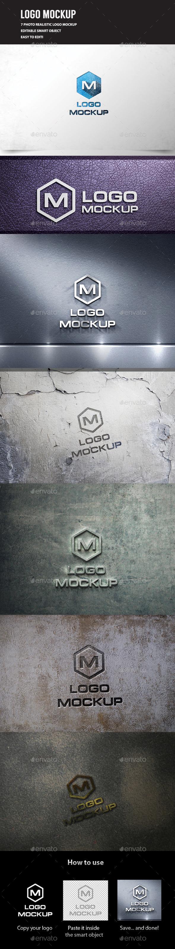 3D Logo Mockup Vol.3 - Logo Product Mock-Ups