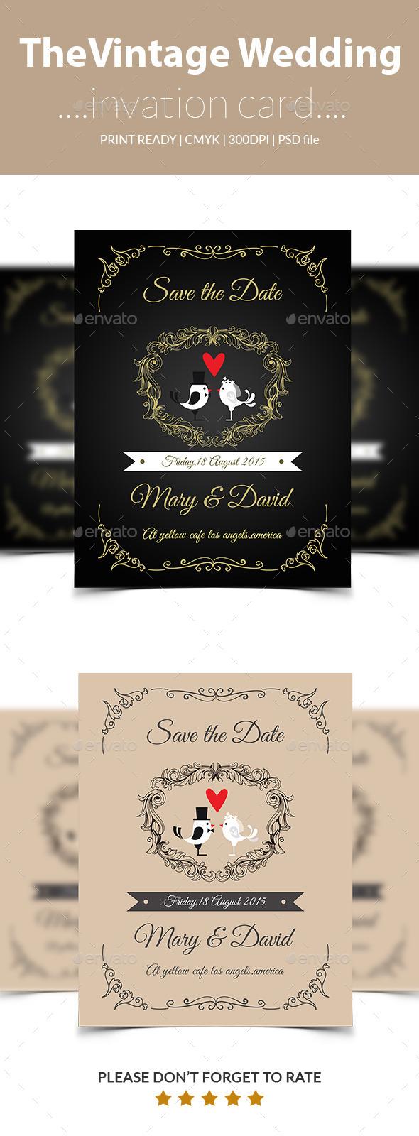Vintage wedding inviation card - Weddings Cards & Invites