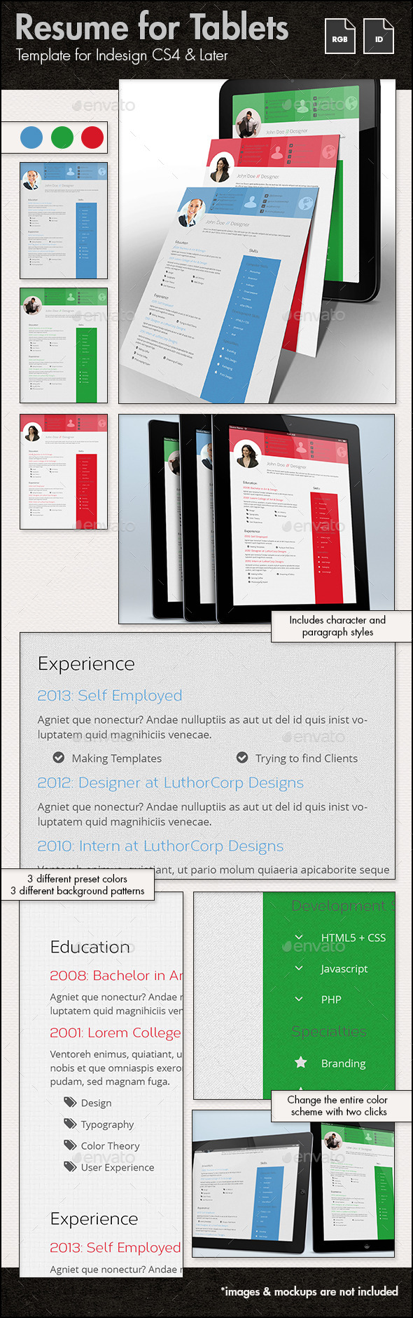 Resume Template for Tablets - ePublishing