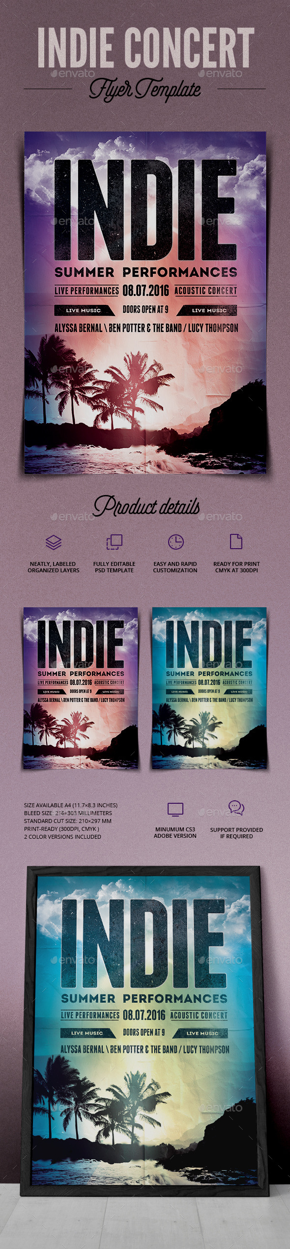 Indie Summer Event - Events Flyers