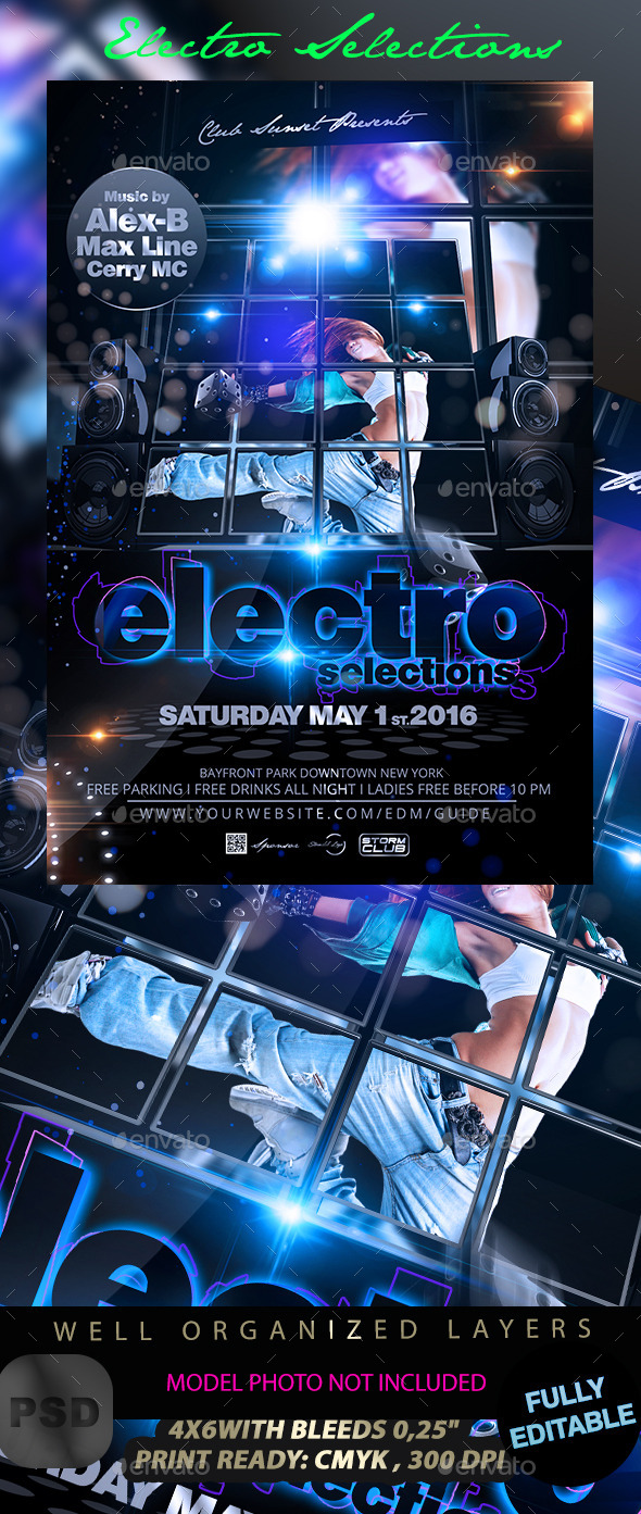 Electro Selections Flyer - Events Flyers