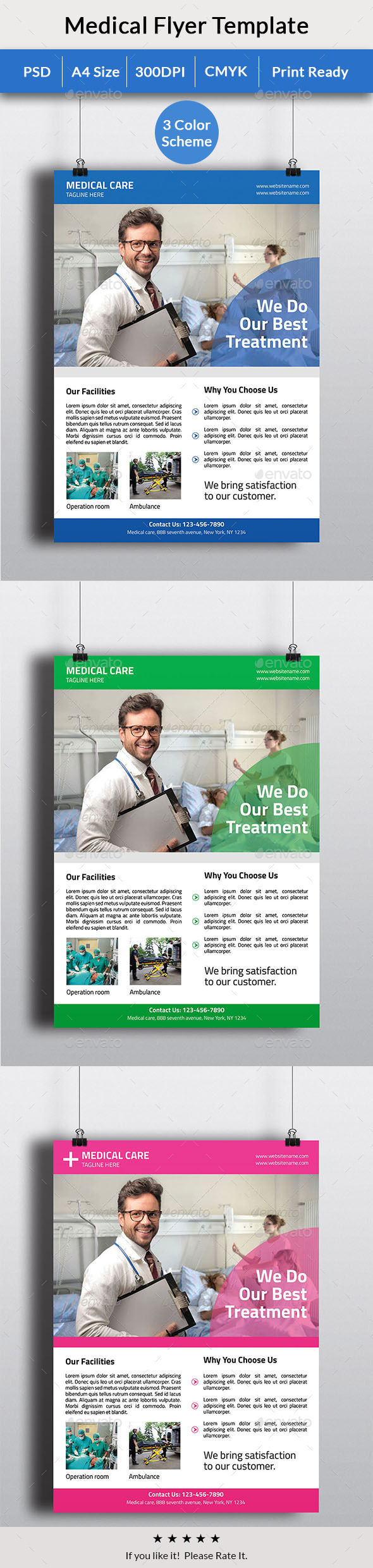 Medical Care Flyer - Flyers Print Templates
