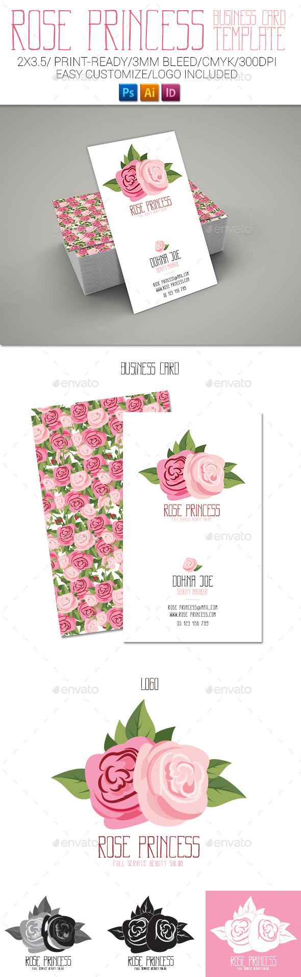 Rose Princess Business Card - Business Cards Print Templates