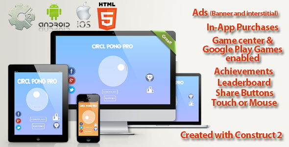 Circle Pong Pro Multi Platform - Capx & design  - CodeCanyon Item for Sale
