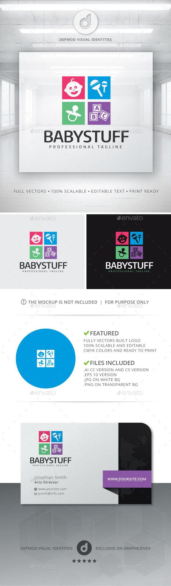 Baby Stuff Logo - Objects Logo Templates