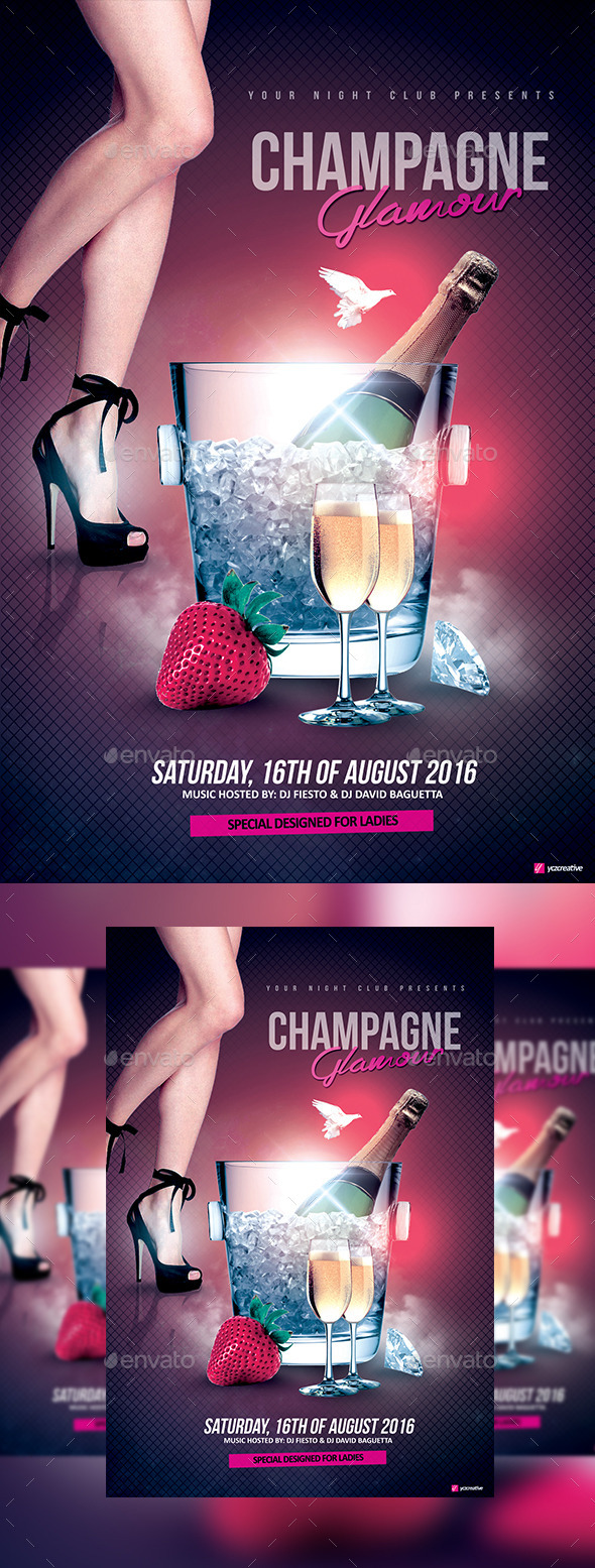 Glamorous Champagne Night - Clubs & Parties Events
